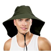 088674ca Sun Blocker Outdoor Sun Protection Fishing Cap with Neck Flap, Wide Brim Sun  Hat for