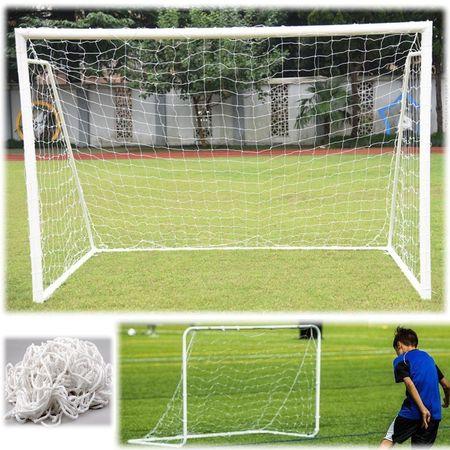 Yosoo Full Size Football Soccer Net Sports Replacement Soccer Goal Post Net for Sports Match Training, Goal Net, Soccer Equipment