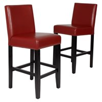 Roundhill Citylight Counter Height Barstool Set of 2, Multiple Colors Available