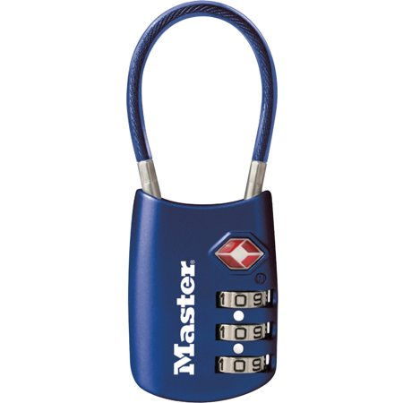 Master Lock, MLK4688DBLU, TSA-accepted Cable Lock, 1, - Loc Lock