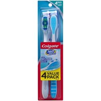 Colgate 360 Adult Toothbrush, Soft - 4 Count