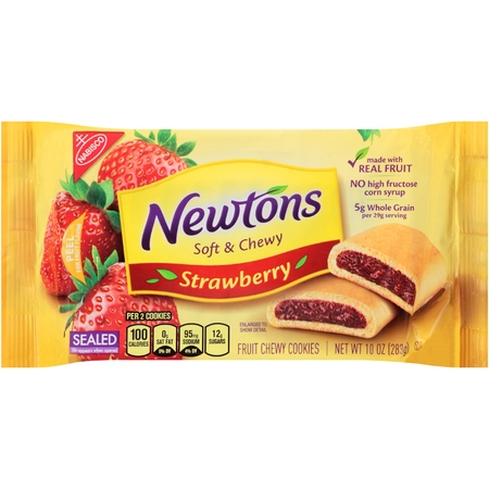 - (2 Pack) Nabisco Newtons Soft & Chewy Strawberry Fruit Chewy Cookies, 10.0 OZ