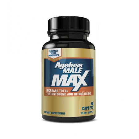 Ageless Male Max Total Testosterone Nitric Oxide Booster Capsules