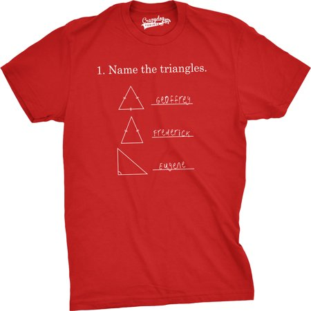 Mens Name The Triangles Funny Math T Shirts Sarcasm Novelty I Love Math Tee For Guys (Funny Gravestone Names)