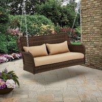 Better Homes & Gardens Camrose Farmhouse Wicker Outdoor Porch Swing