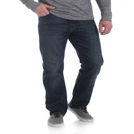 Wrangler Men's 5 Star Relaxed Fit Jean with Flex (Stonewashed Denim Pant Set)