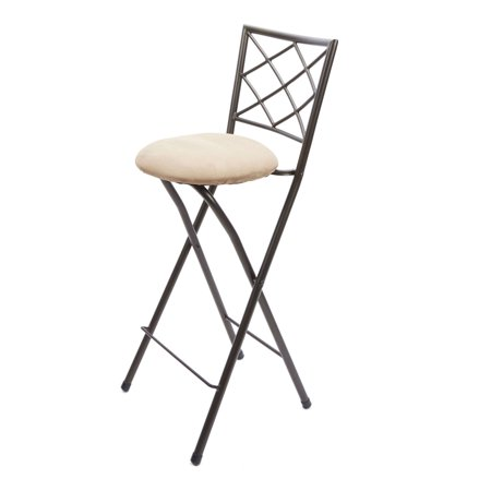 - Diamond X-Back Folding 30 Inch Bar Height Stool Bronze Finish, Multiple Colors