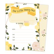 Bumble Bee 3 Happy Birthday Invitations Invite Cards 25 Count With Envelopes Seal