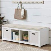 Sensational White Bathroom Storage Benches Theyellowbook Wood Chair Design Ideas Theyellowbookinfo