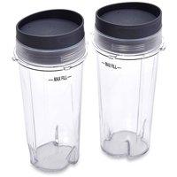 Ninja 16 oz Single Serve Cups with Lids for Ninja BL660, 2-Pack