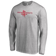 Houston Rockets Fanatics Branded Primary Logo Long Sleeve T-Shirt - Heather  Gray b75bfb490