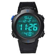 027ba9f3b8c Outtop Fashion Waterproof Men s Boy LCD Digital Stopwatch Date Rubber Sport Wrist  Watch