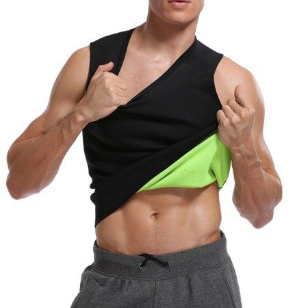 SLIMBELLE Sauna vest for man neoprene sweat vest weight lose Sweat tank top fat burner vest thermo (Male Vent)