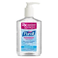 (3 Pack) PURELL® Advanced Refreshing and Moisturizing Gel Hand Sanitizer, 12 fl oz Pump Bottle