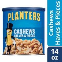 Planters Cashew Halves & Pieces, 14 oz Canister