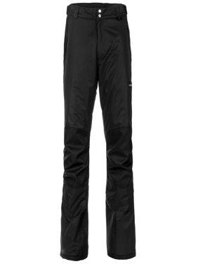 Lucky Burns Adult Insulated Reinforced Knees and Seat Men Women Snow Ski Pants, Black, X-Large
