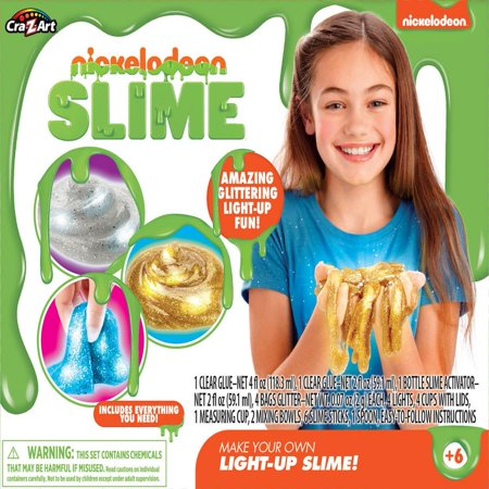 Nickelodeon Make Your Own Light Up Slime by Cra-Z-Art