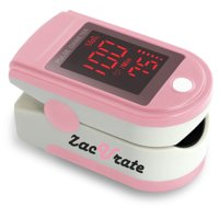 Zacurate Pro Series 500DL Fingertip Pulse Oximeter Blood Oxygen Saturation Monitor with Silicon Cover, Batteries and Lanyard, Blushing Pink