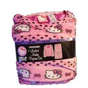 9802a933bd Hello Kitty Ladies Minky 2 Pc Fleece Sleeper Pajama Set Xl 16 18