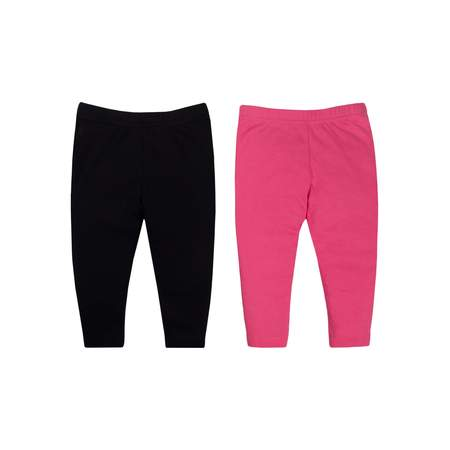 Baby Girl Knit Pants, 2-Pack