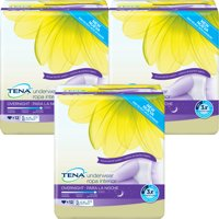 (3 Pack) Tena Incontinence Underwear For Women, For Overnight, Xlarge, 12 Count