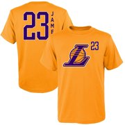detailed look d9558 05848 Youth LeBron James Gold Los Angeles Lakers Name   Number Team T-Shirt
