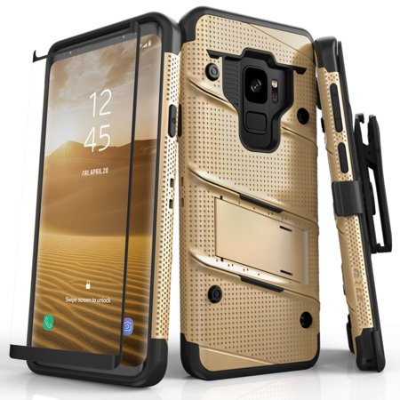 Zizo Bolt Series Samsung Galaxy S9 / S9 Plus Case - 12ft Drop Tested with Screen Protector (Price/1 Case)