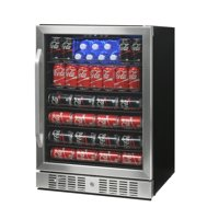 NewAir ABR-1770 177 Can Deluxe Beverage Cooler, Stainless Steel