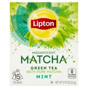(3 Boxes) Lipton Magnificent Matcha Green Tea Bags Mint 15 ct