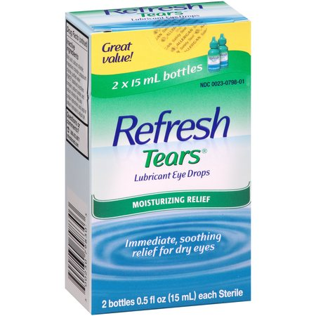 Refresh Lubricant Eye Drops Value Size Refresh Tears, 2 - .5 Oz bottles, 1