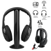 4476b41ef75 5 in 1 Headset Wireless Headphones Earphones Cordless RF Radio Mic w   Holder Stand for. Price