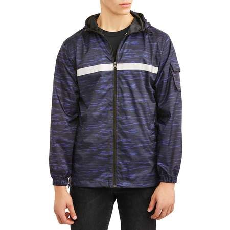 Guess Mens Jacket - Pnw Men's full zip rain jacket, up to size 3xl