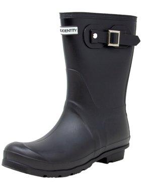 Exotic Identity Short Rain Boots Non-Slip 100% Waterproof for Women - 7M - Matte Black