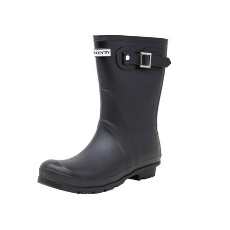 Exotic Identity Original Short Rain Boots - 7M - Matte Black (Exotica Shoes)