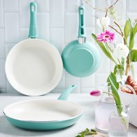 GreenLife Ceramic Non-Stick 3 Piece Fry Pan Set