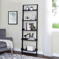 "Mainstays 70"" 5-Shelf Leaning Ladder Bookcase, Espresso"
