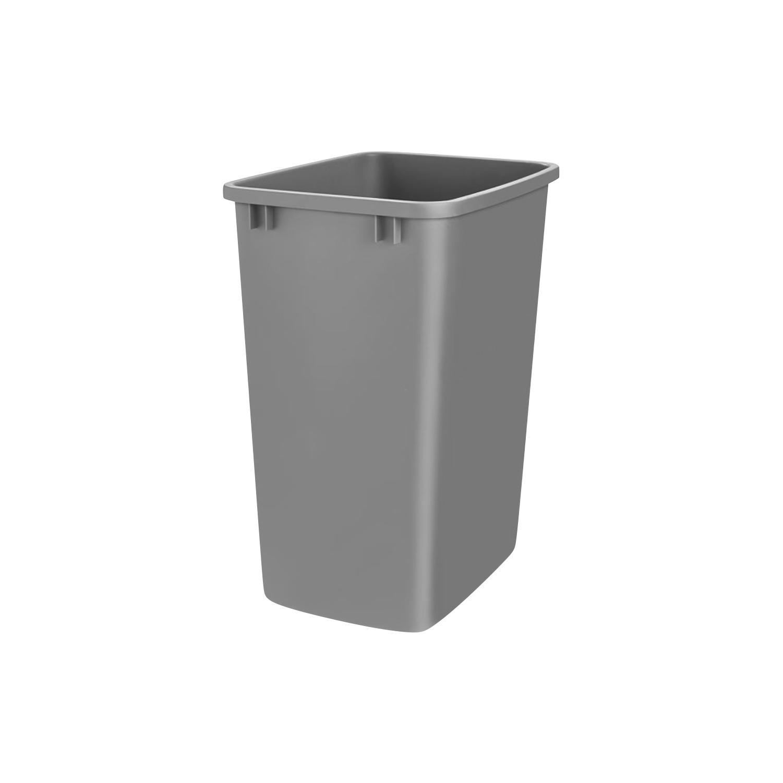 Rev A Shelf 35 Quart Plastic Trash Pullout Replacement Bin, Silver (BIN