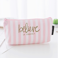 Clearance!!! Coofit Cute Pink Zipper Pencil Case Pencil Pouch School Learning Gifts for Kids Girls Women