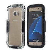 Black Waterproof Shockproof Life Cover Case For Samsung Galaxy s7