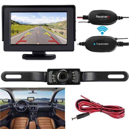 Wireless Backup Camera and Monitor Kit 9V-24V Rear View System For Car SUV Van Night Vision Waterproof Camera