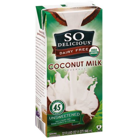 So Delicious Dairy Free Unsweetened Coconut Milk Beverage, 32 fl (Dairy Fresh Foods)