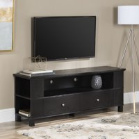 """Wood TV Media Storage Stand for TV's up to 60"""" - Black"""