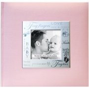"""Fabric Expressions Photo Album, 8.5"""" x 8.5"""", 200 Pockets, Baby, Pink"""