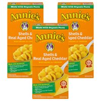 (3 Pack) Annie's Macaroni and Cheese Shells & Aged Cheddar Mac and Cheese 6 oz