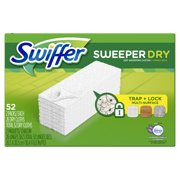 Swiffer Sweeper Dry Sweeping Pad, Multi Surface Refills for Dusters Floor Mop, Lavender Vanilla & Comfort, 52 Count
