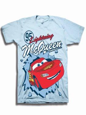 Disney Cars Toddler Boys' #95 Lightening McQueen Pop Out Short Sleeve Graphic T-Shirt