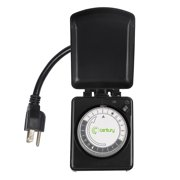 Century Outdoor Mechanical Light Timer 24 Hour Programmable Plug In Heavy Duty Outlet