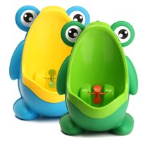 Frog Potty Toddler Toilet Training Urinal For Boys Children Kids Baby Pee Trainer with Funny Aiming Target, Suction Cup Sucker, Large Capacity