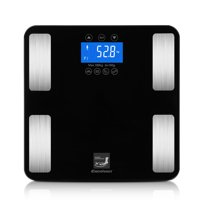 Excelvan USA Body Fat Scale with FDA approved– Measures Weight, Body Fat, Water, Bone Mass 400 Lbs Capacity Tempered Glass (Black)