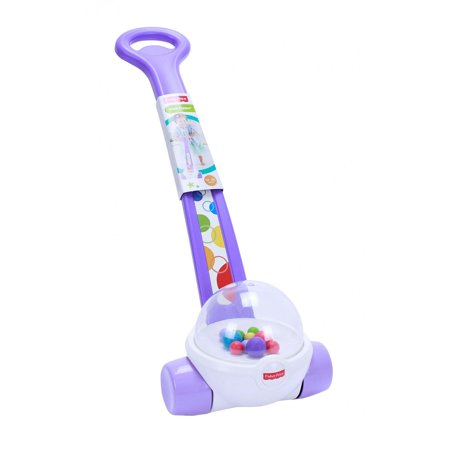 - Fisher-Price Classic Corn Popper Walk & Push Toy, Purple